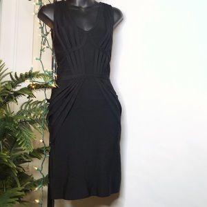 BEBE Black Bandage Bodycon Dress